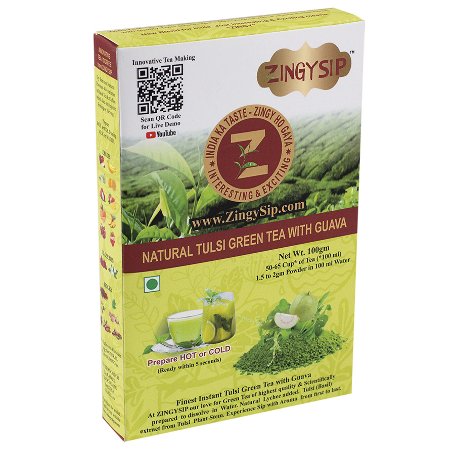 Natural  Green Tea Tulsi with Guava-100gm